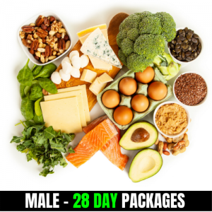 KETO/High Fat Low Carbs – Male (28 Day Plan)