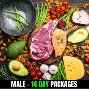 KETO/High Fat Low Carbs – Male (14 Day Plan)